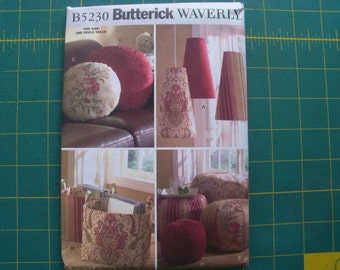 Butterick 5230 Room Accessories NEW Uncut Sewing Pattern