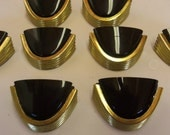 Set of 8 Art Deco Drawer Pull 1.5 Inch Centers