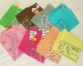 new Vintage Wamcraft cotton Bandanna • One bandana of each color • Priced Per Bandana