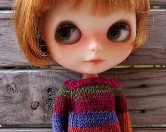 Confetti party sweater jumper fairisle stripes for Neo Blythe