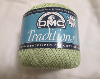 DMC Traditions Crochet Thread, Size 10, Light Green