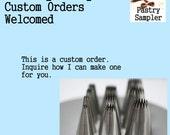 Custom Set of Pastry Tips