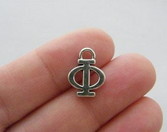 BULK 20 Phi Greek alphabet charms M516
