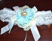 garter, Wedding garter, White lace garter, leg garter, bridal garter, blue garter, white garter with yellow,lace garter, something Blue