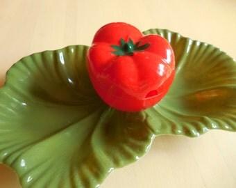 Vintage Tomato and Leaf Veggie Tray