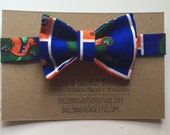 UF Gator Orange and Blue Gator Print Soft Velcro Bow Tie for Infants, Toddlers & Dogs 277422608