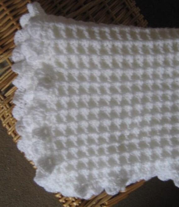 Waffle Stitch CROCHET PATTERN Baby Blanket/Afghan/Pram ...