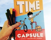 Journal for kids: Time Capsule Kid's Journal. Record awesome adventures, achievements, & milestones with writing prompts. Improve penmanship