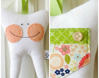 Tooth Fairy Pillow for a Girl (Woodland)-READY TO SHIP