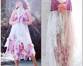 Stevie Nicks Style Velvet Gypsy Dress, 24 Karat Gold, boho clothing, RESERVED sundress, Gypsy soul lace dress, Dresses, True rebel clothing