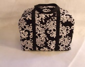 Sizzix Big Shot Carrying Case in Black and White Damask Print Fabric