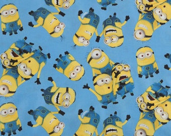 Minions   cotton Calico fabric fabric  quilting apparel cotton  Fat Quarter, 1/2 yard or by the yard fabric  cotton fabric