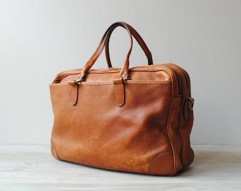 Vintage Leather Bag, Briefcase, or Weekender