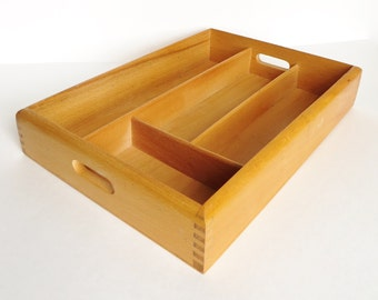 Vintage Wood Kitchen Drawer Organizer
