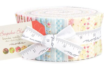 """Bespoke Blooms Jelly Roll by Brenda Riddle Designs for Moda Fabrics 18620JR 40 2.5"""" x 42"""" Fabric Strips"""