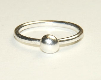Sterling Silver Ring, Size 5, Stacking Ring, simple ring, dainty ring