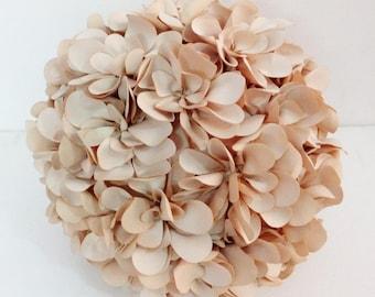 natural beige flower pillow round pouf circular  fibre pillow nursery decor baby pillow sofa pillow bedroom decor wedding home decor gift