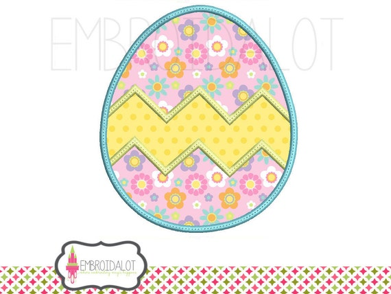 Easter egg applique embroidery design such a cute