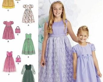 Girls' Sunday Dress Pattern, Girls' Classic Dress Pattern, Girls' Special Occasion Dress Pattern, Simplicity Sewing Pattern 1184