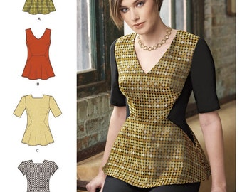 Peplum Top Pattern, Simplicity Sewing Pattern 8168