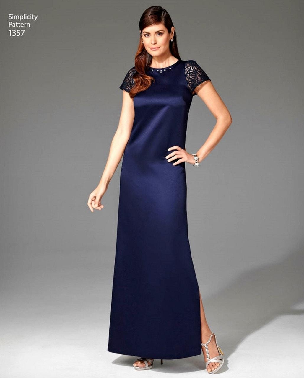 A-Line Dress Pattern, Evening Dress Pattern, Women's Dress ...