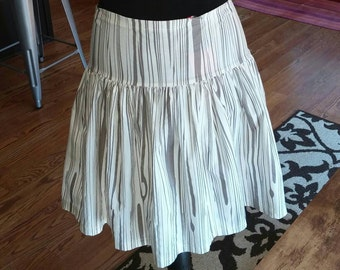 Ivory Skirt, Organic Cotton Skirt, Dropwaist Skirt, Organic Cotton,