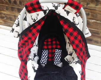 Car Seat Cover/ Car Seat Canopy Custom 5 Piece Gift Sets