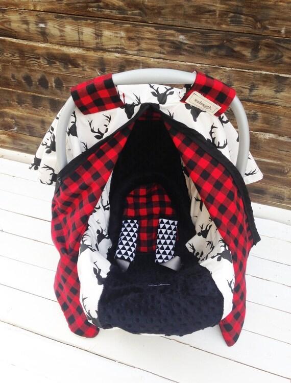 deer plaid car seat cover car seat canopy custom gift sets. Black Bedroom Furniture Sets. Home Design Ideas
