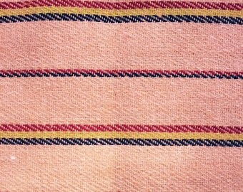 Ethnic Mexican Jerga Fabric Orange