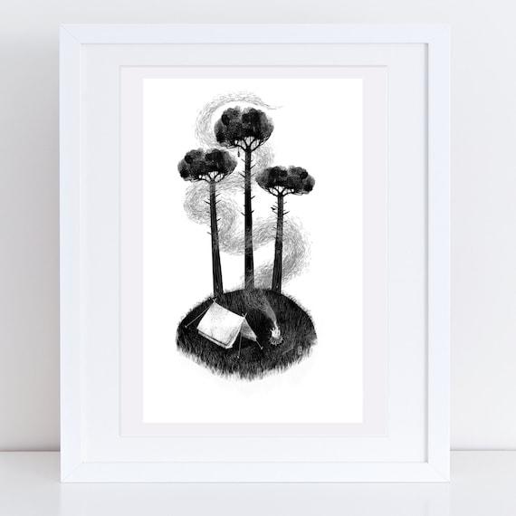 Beneath Three Pines - Signed print