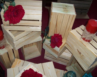 Wood Crates rustic wedding reception decorations mason jar