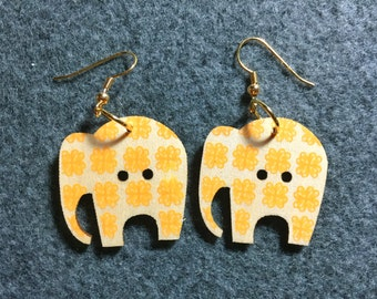 Elephant Button Earrings