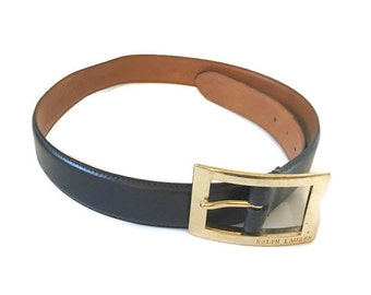 Vintage Leather Ralph Lauren Belt Black / Brown size M