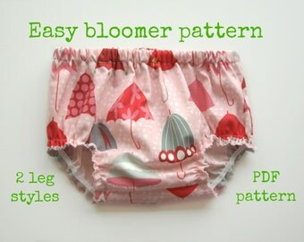 Baby sewing pattern, Baby pattern, Nappy pattern, Bloomer sewing pattern, Diaper cover pattern - Baby Bloomer pattern (S106) - 4 sizes