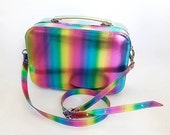 Rainbow Faux Leather Structured Box Bag (Handmade to Order)