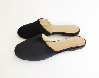 Faux Leather Slipper Flats (Handmade to order)