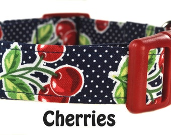 Colorful Dog Collar - The Cherries