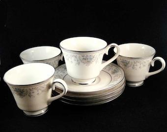 Carico Tivoli China Lot (12) Pieces Tea Cup Sets & Dinner Plates