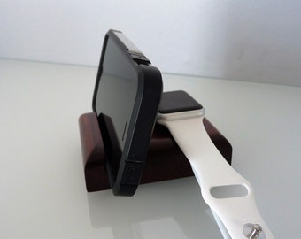 Apple Watch Stand, iPhone Stand, Apple Watch Dock, Phone Slot in Front of Watch