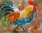 Notecards of Original Painting by Karen Tarlton - Rooster - Packs of 5 with envelopes