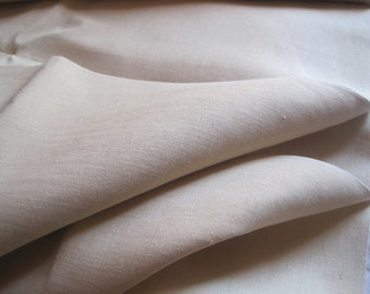 Two available: wonderful unused vintage French pure linen sheeting fabric, excellent for cutains, upholstery, projects