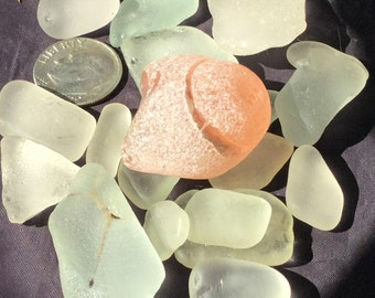 Sea Glass!  Beach Glass! of Hawaii Beaches PINK KNOB! Bulk Sea Glass! Pink sea glass! RARE piece! Safety glass!