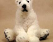 Polar Bear needle felted friend