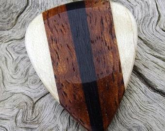 Multi-Wood Guitar Pick - Premium Quality - Handmade - Actual Pick Shown - Artisan Guitar Pick