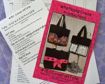 Tote Pattern Slip On Covers Large Tote Pattern Whistlepig Creek Productions Tote 1153 Pattern