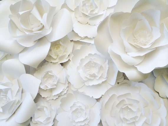 Large Flower Wall Decor : Paper flower wall decor large backdrop by