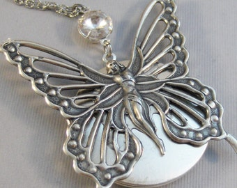 Journey,Butterfly,Butterfly Necklace,Butterfly Locket,Silver Butterfly,Locket,Fairy,Fairy Neckalce,Princess Necklace,Princess,Goddess