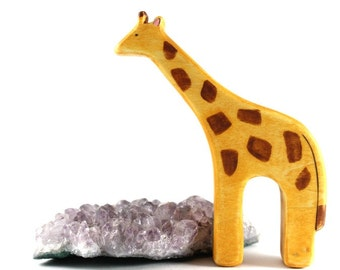 giraffe wooden toy, giraffe waldorf toy, giraffe figurine, eco friendly toys,