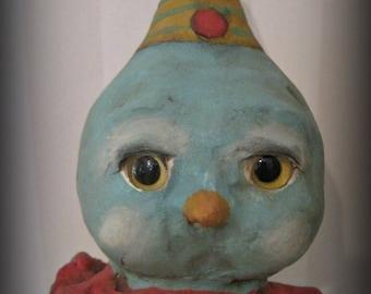 Bluebird of happiness papier mache bird aqua