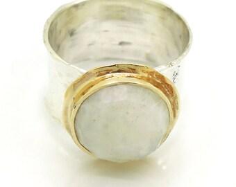 Moonstone engagement ring,